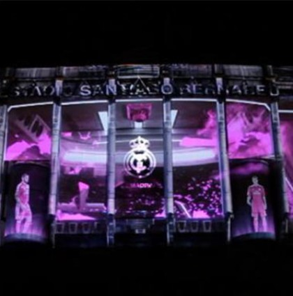 Making OF Mapping ADIDAS en el Bernabeu